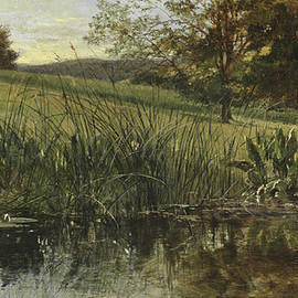 By the Riverbank, 1869 - Heywood Hardy