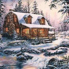 Jean Harrison - Cabin in Snow