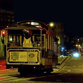 Carlos Alkmin - Cable Car at Night - San Francisco - color