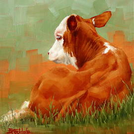 Margaret Stockdale - Calf Reclining