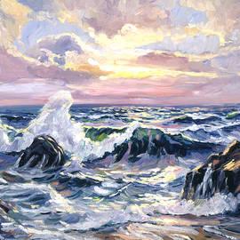 California Beach Sunset - David Lloyd Glover