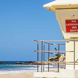 California Laguna Beach Lifeguard Tower Panorama Photo - Paul Velgos