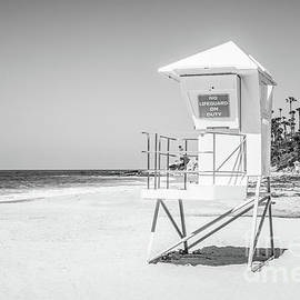 California Lifeguard Tower in Black and White - Paul Velgos