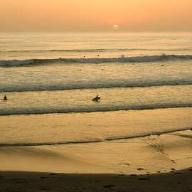 Georgia Mizuleva - Californian Gold - Sunset Beach Waves and Surfers - Oh So California