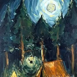Maria Langgle - Camp at Night