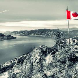 Tara Turner - Canadian Flag on Pincushion Mountain