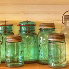 Myrna Bradshaw - Canning Jars on the shelf
