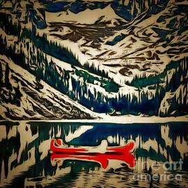 Catherine Lott - Canoes Red In Ambiance