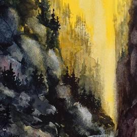 David K Myers - Canyon 2, Watercolor Painting