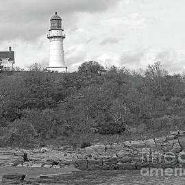 Steve Gass - Cape Elizabeth, Maine Lighthouse BW