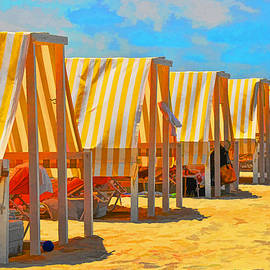 Allen Beatty - Cape May Cabanas 8 -  Digital Painting