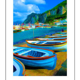 Mike Nellums - Capri Harbor poster