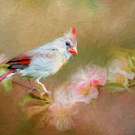 Ericamaxine Price - Cardinal in the Flowers - Painting