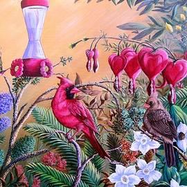 Daniel Butler - Cardinals and Blooms- Spring Oasis