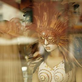 Gaukhar Yerk - Carnival mask behind glass