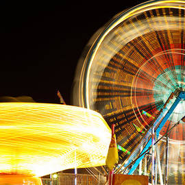 Carnival Rides at Night Picture - Paul Velgos