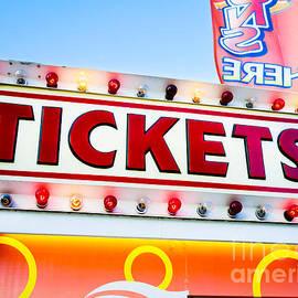 Carnival Tickets Sign - Paul Velgos