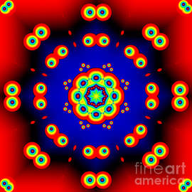 Marv Vandehey - Cartoon Eyes Fractal Mandala