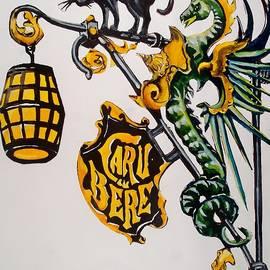 Dora Hathazi Mendes - Caru cu Bere - Antique Shop Sign