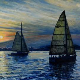 Eileen Patten Oliver - Casco Bay Sunset