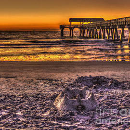Reid Callaway - Castles In The Sand 2 Tybee Island Pier Sunrise