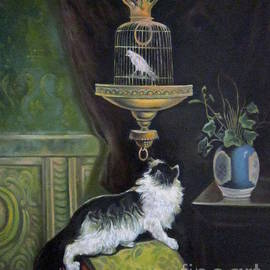 Farideh Haghshenas - Cat and Canary Cage