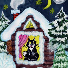 Irina  Afonskaya - Cat in house