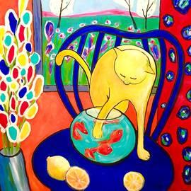 Cristina Stefan - Cat - tribute to Matisse