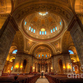 Wayne Moran - Cathedral of St Paul Wide Interior St Paul Minnesota