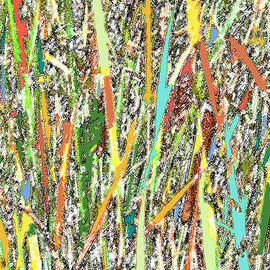 Lorraine Baum - Cattails Abstract