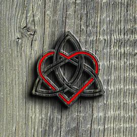 Brian Carson - Celtic Knotwork Valentine Heart Wood Texture 2