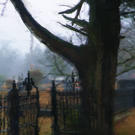 A R Williams - Cemetery Tree And Gate