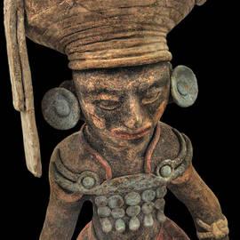 Doug Matthews - Ceramic Mayan King from Copan
