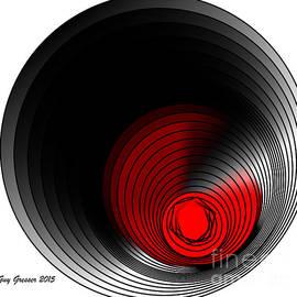 Guy  GRESSER - Cercles Noires Et Rouges  001