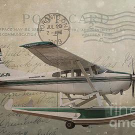 Nina Silver - Cessna Skywagon 185 on Vintage Postcard