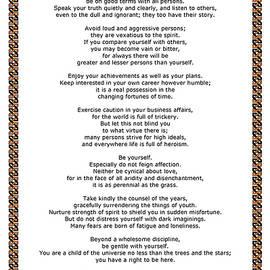 Desiderata Gallery - Chain Link Desiderata Poem