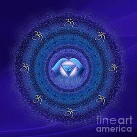 Giada Rossi - Chakra mandala art - Ajna Chakra Mandala by RGiada