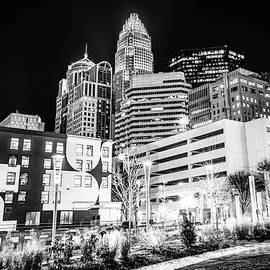 Charlotte NC Downtown Black and White Photo - Paul Velgos