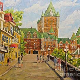 Richard T Pranke - Chateau Frontenac Promenade Quebec City by Prankearts