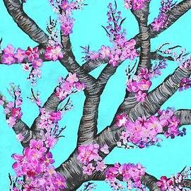 Barbara Griffin - Cherry Blossoms Against a Turquoise Sky 1