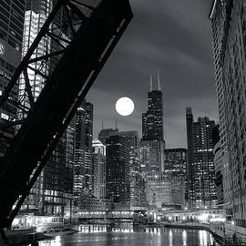 Frozen in Time Fine Art Photography - Chicago Black and White Nights