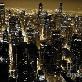 Chicago Black and Yellow Skyline
