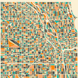 CHICAGO MAP 2 - Jazzberry Blue