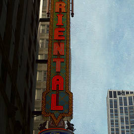 Thomas Woolworth - Chicago Oriental Theater Signage Textured