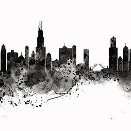 Marian Voicu - Chicago Skyline Black and White
