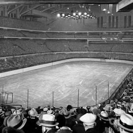 Celestial Images - Chicago Stadium prepared for a Chicago Blackhawks game