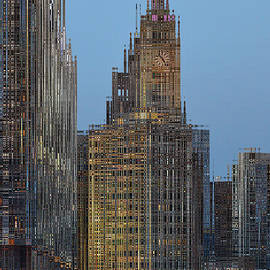 Thomas Woolworth - Chicago Wrigley Building At Dusk PA 02 Abstract Vertical