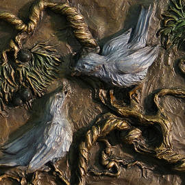 Dawn Senior-Trask - Chickadees on Juniper with Berries