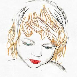 Catherine Lott - Child Sketch Painted
