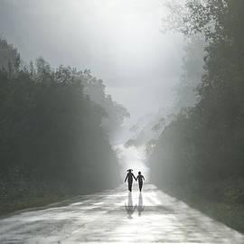 larisa Fedotova - Children on the road